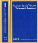 Accountants' index. Thirty-seventh supplement, January-December 1988, volume 1: A-L