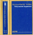Accountants' index. Thirty-seventh supplement, January-December 1988, volume 2: M-Z