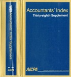 Accountants' index. Thirty-eighth supplement, January-December 1989, volume 1: A-L
