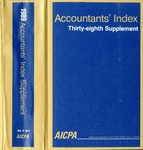 Accountants' index. Thirty-eighth supplement, January-December 1989, volume 2: M-Z