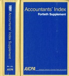 Accountants' index. Fortieth supplement, January-December 1991, volume 1: A-L