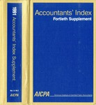 Accountants' index. Fortieth supplement, January-December 1991, volume 2: M-Z