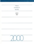 Annual report 2000 by American Institute of Certified Public Accountants. SEC Practice Section. Public Oversight Board