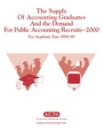 Supply of accounting graduates and the demand for public accounting recruits, 2000, for academic year 1998-99 by Beatrice Sanders and Leticia B. Romeo