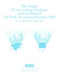 Supply of accounting graduates and the demand for public accounting recruits, 2004, for academic year 2002-2003 by Beatrice Sanders and Leticia B. Romeo