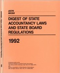 Digest of state accountancy laws and state board regulations, 1992