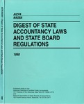 Digest of state accountancy laws and state board regulations, 1998 by American Institute of Certified Public Accountants and National Association of State Boards of Accountancy