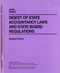 Digest of state accountancy laws and state board regulations, updated edition, 1996 by American Institute of Certified Public Accountants and National Association of State Boards of Accountancy