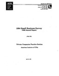 1994 Small business survey: fifth annual report