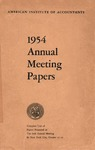 1954 Annual meeting, complete text of papers presented at the 67th annual meeting in New York City, October 16-21
