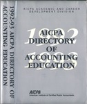 AICPA directory of accounting education, 1992-1993