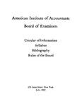 Circular of information ; Syllabus ; Bibliography ; Rules of the board