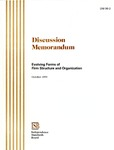 Discussion memorandum: Evolving forms of firm structure and organization, October 1999; DM 99-2