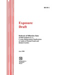 Exposure draft: deferral of effective date of ISB standard no. 2, certain independence implications of audits of mutual funds and related entities, June 2000; ED 00-1