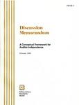 Discussion memorandum: a conceptual framework for auditor independence, Feburary 2000; DM 00-1