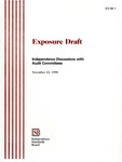 Exposure draft: independence discussions with audit committees, November 12, 1998; ED 98-1