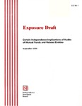 Exposure draft: certain independence implications of audits of mutual funds and related entities, September 1999; ED 99-1