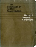 Commission on Auditors' Responsibilities: Report of Tentative Conclusions
