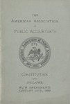 Constitution and By-Laws with Amendments, January 10th, 1899