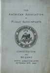 Constitution and By-Laws with Amendments, October 8th, 1901