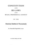 Constitution and By-Laws and Rules of Professional Conduct as Amended September, 1922