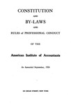 Constitution and By-Laws and Rules of Professional Conduct as Amended September, 1924
