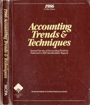 Accounting trends and techniques, 40th annual survey, 1986 edition by American Institute of Certified Public Accountants