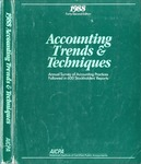 Accounting trends and techniques, 42th annual survey, 1988 edition by American Institute of Certified Public Accountants