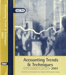 Accounting trends and techniques, 57th annual survey, 2003 edition by American Institute of Certified Public Accountants