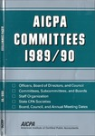 AICPA committees, 1989-90: Officers, board of directors and council, committees, subcommittees, and boards, staff organization, state CPA societies, Board, council, and annual meeting dates