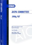 AICPA committees, 1996-97: Officers, board of directors, council, boards and committees, state CPA societies, dates of board, council, and annual member meetings by American Institute of Certified Public Accountants