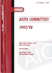 AICPA committees, 1997-98: Officers, board of directors, council, boards and committees, state CPA societies, dates of board, council, and annual member meetings by American Institute of Certified Public Accountants