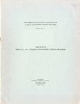 College accounting testing program bulletin no. 13; Results of the fall, 1951, college accounting testing program