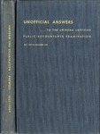Unofficial answers to the Uniform certified public accountants examination, May 1957 to November 1959