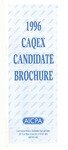 CAQEX Candidate Brochure, 1996 by American Institute of Certified Public Accountants. Examinations Division