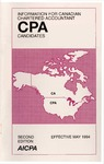 Information for Canadian Chartered Accountant CPA candidates, Effective May 1994 by American Institute of Certified Public Accountants. Board of Examiners