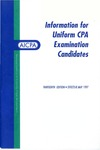 Information for CPA Examination Candidates, Thirteenth Edition, Effective May 1997 by American Institute of Certified Public Accountants. Board of Examiners