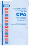 Information for International Uniform CPA Qualification Examination Candidates, Second Edtion - Effective November 1998 by American Institute of Certified Public Accountants. Board of Examiners