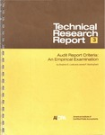 Audit report criteria: An empirical examination; Technical Research Report 3 by Stephen E. Loeb and James P. Bedingfield
