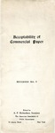 Acceptability of commercial paper by A. P. (Alphyon Perry) Richardson (1875-1949) and American Association of Public Accountants