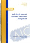 Audit implications of electronic document management; Auditing procedure study;