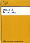 Audit of inventories : a joint study; Auditing procedure study;