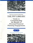 Guide to communicating the results of personal financial planning engagements; PFP library;