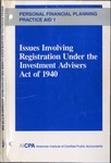 Issues involving registration under the Investment Advisers Act of 1940; Personal financial planning practice aid, 1