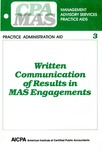 Written communication of results in MAS engagements