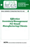 Effective inventory management for small manufacturing clients