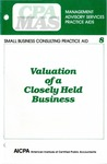 Valuation of a closely held business