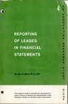 Reporting of leases in financial statements; Accounting research study no. 04