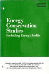 Energy conservation studies: including energy audits; Management advisory services special report