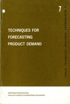 Techniques for forecasting product demand; Management Services technical study, no. 7